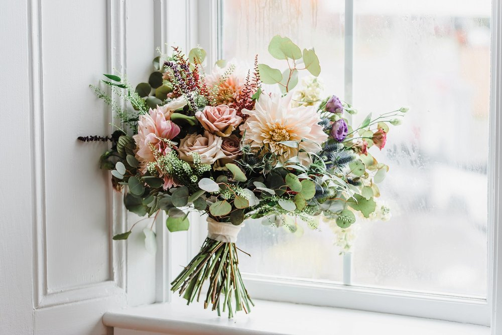 Katherine from Pollen Nation Floral Studios outdid herself with the design and creation of the bridal bouquet, and each one of the bridesmaids bouquets too!