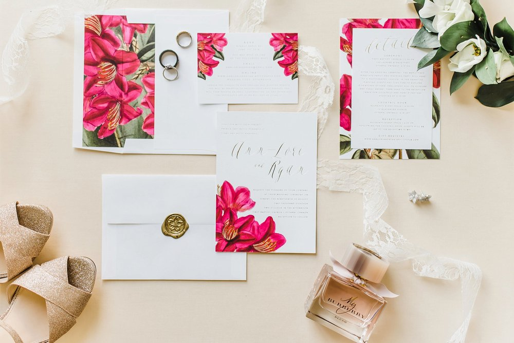 This invitation suite was unreal! By the talented Citrus Press Co.