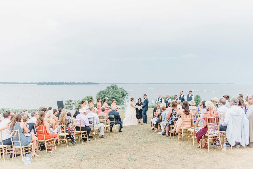 A ceremony right in front of the St Lawrence river?! Yes to that! Tim and Emma - thank you for bringing us to Kingston at the R enaissance Events Venue t o celebrate your love with your family and friends.