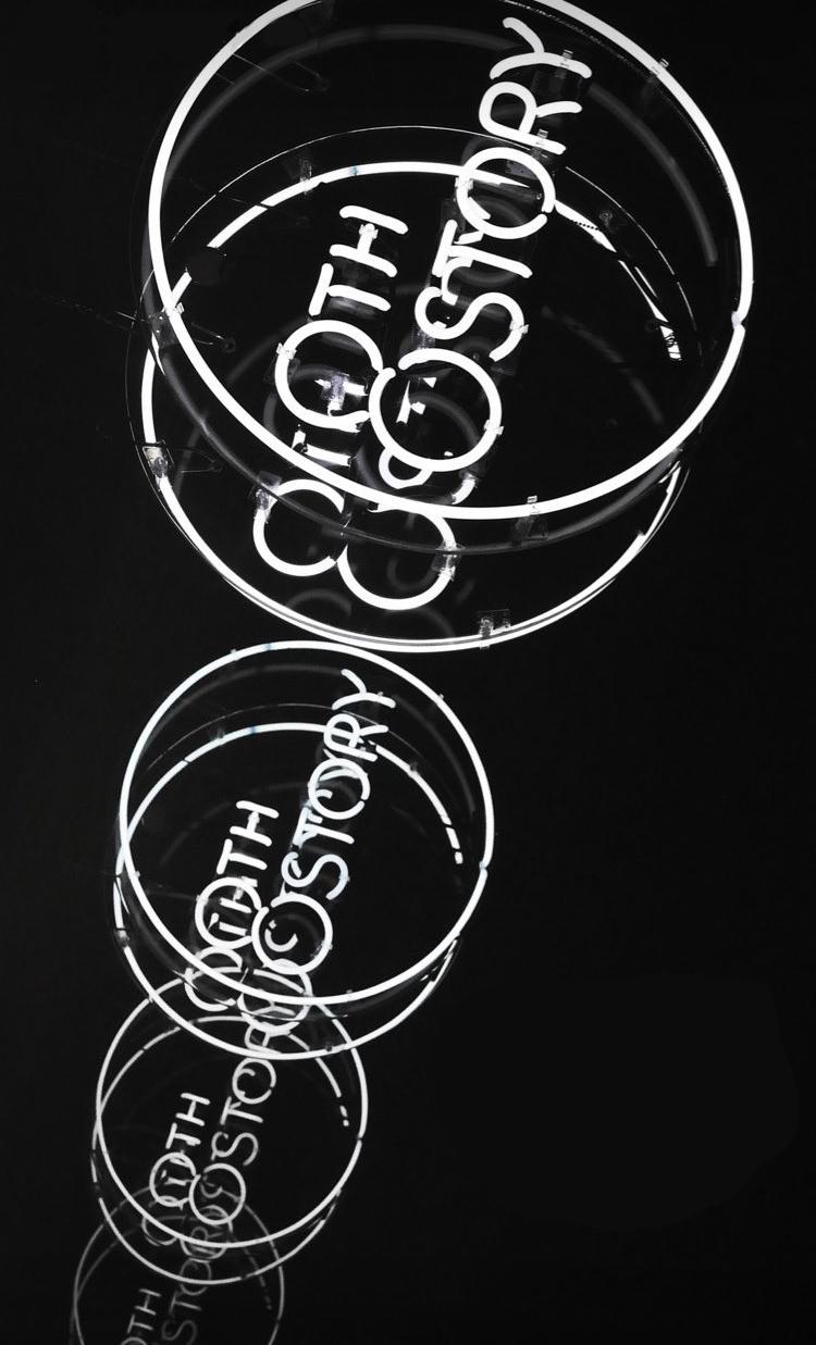 Logo design in neon lights at Agenda tradeshow in LA.