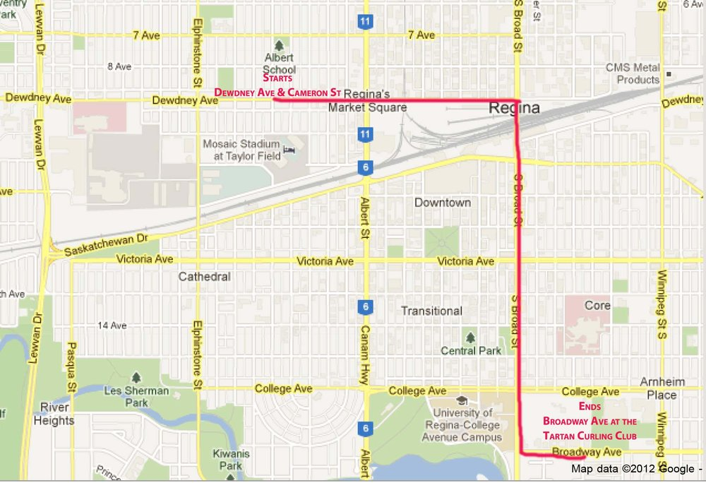 Here's the parade route!