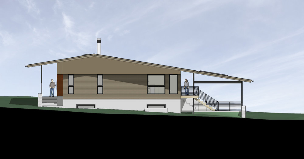 West Elevation - New Leawood Residence