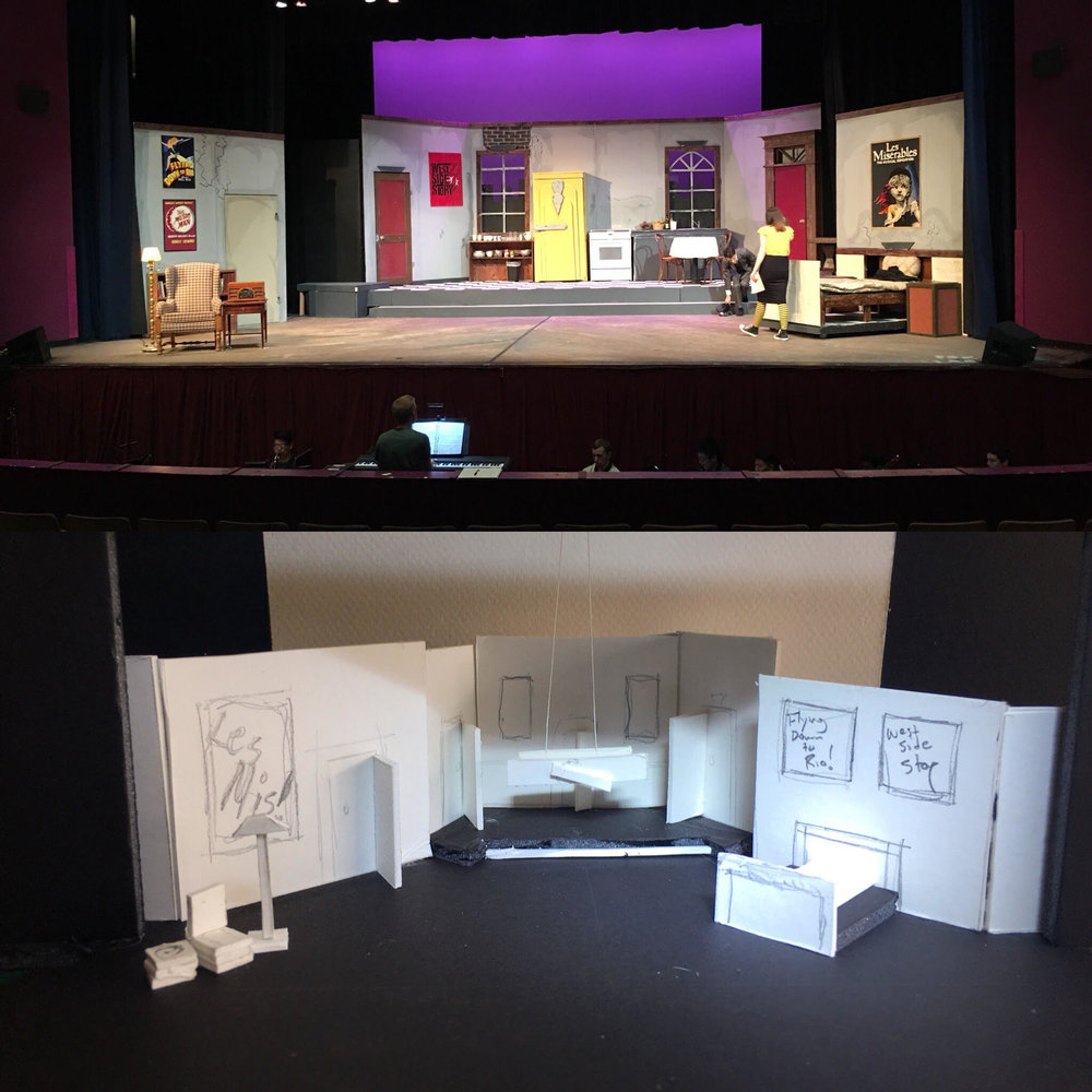 Drowsy Chaperone scenic model and completed set.  Designed by Nathaniel Patterson  Technical Director: Nathaniel Patterson
