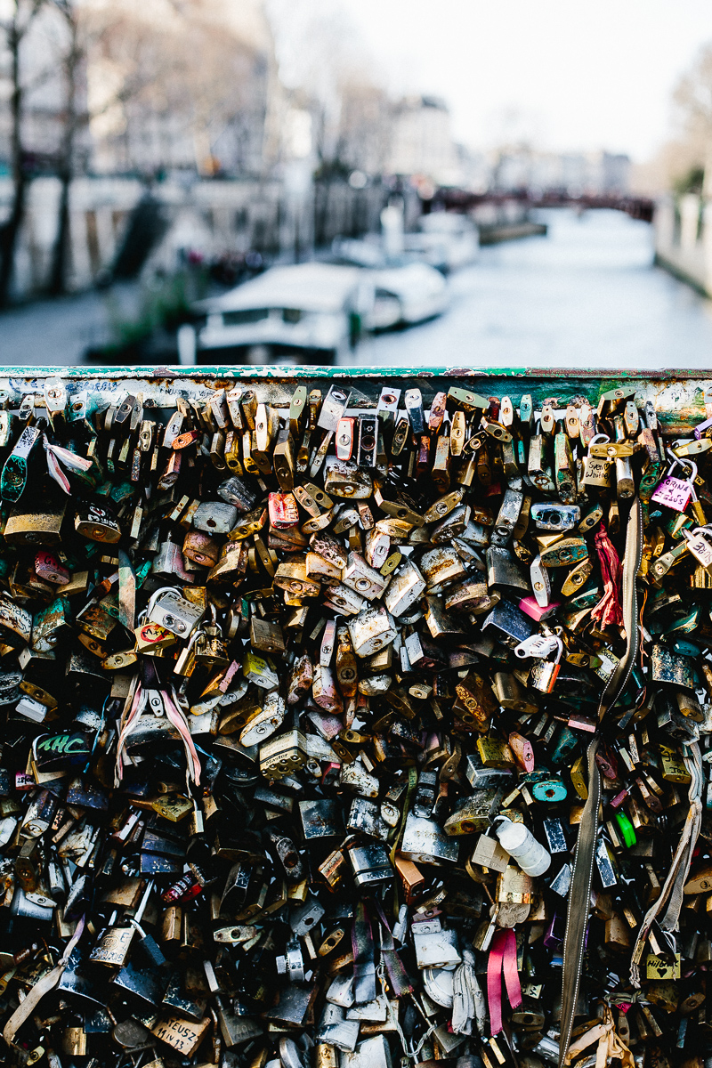 Love locks on the Pont des Arts Bridge, Paris - A Paris Guide