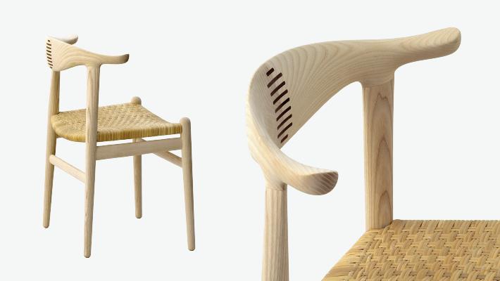 PP 505 - Cow Horn Chair