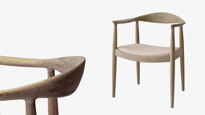 PP 503 Round Chair - Upholstered Seat