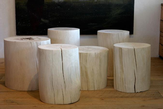 Stump Stools + Side Tables