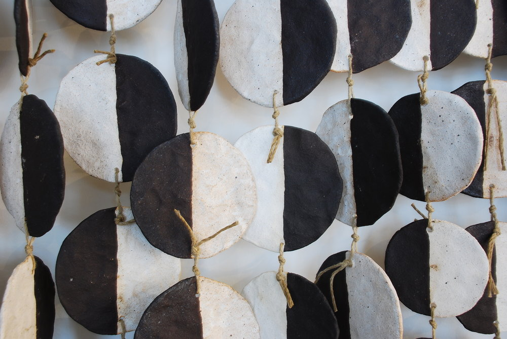 MQuan Ceramic Wall Hanging - Black & White