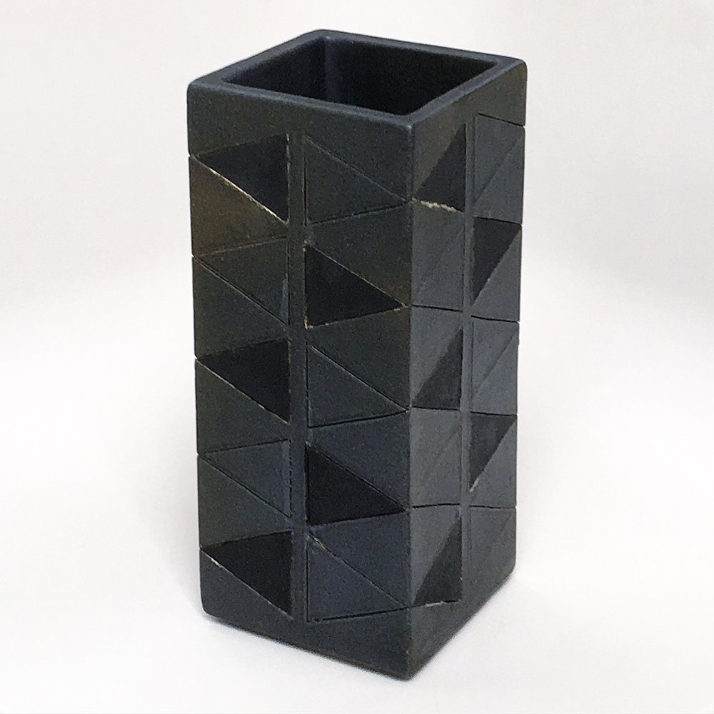 Black Triangles Vase