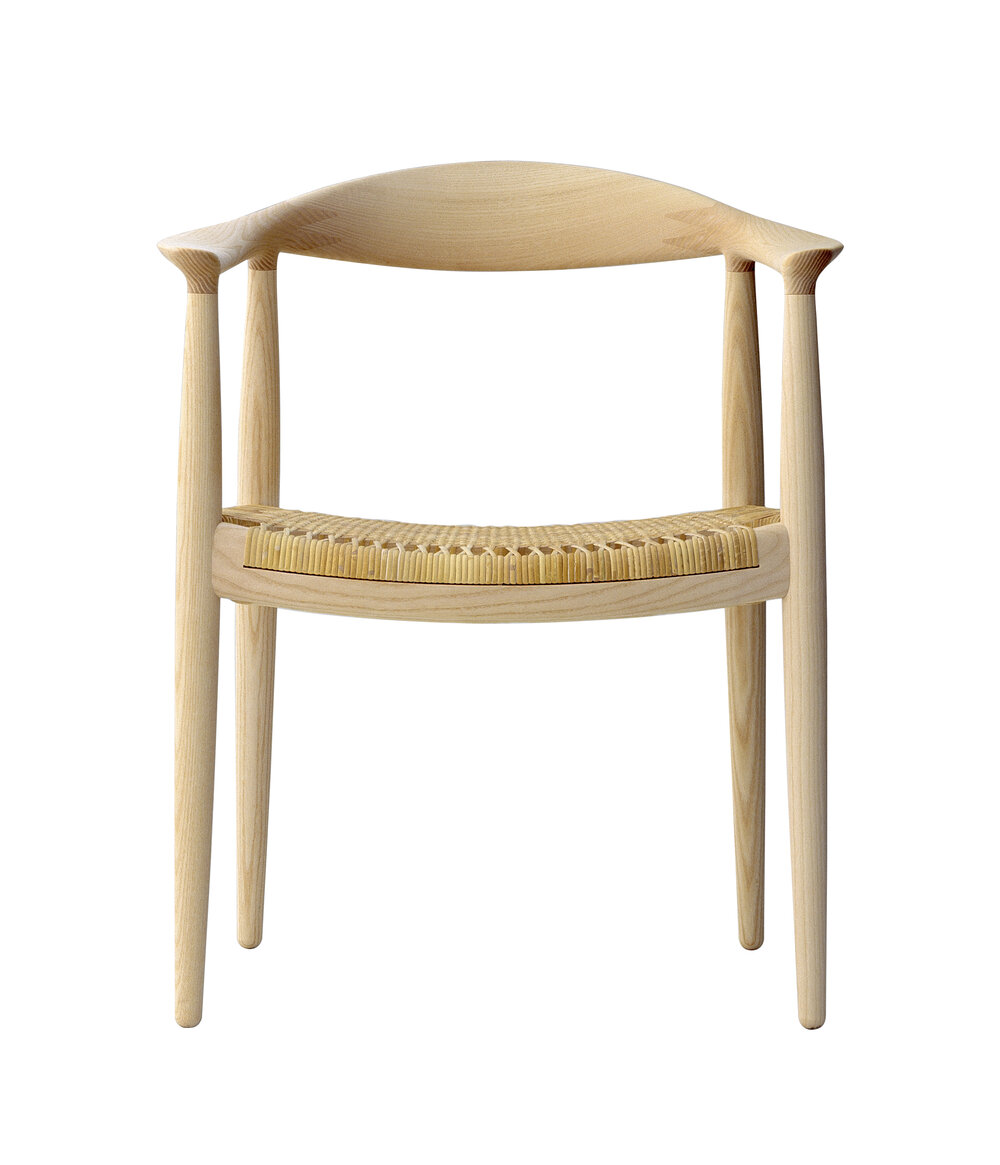 PP501  Round Chair - Cane Seat