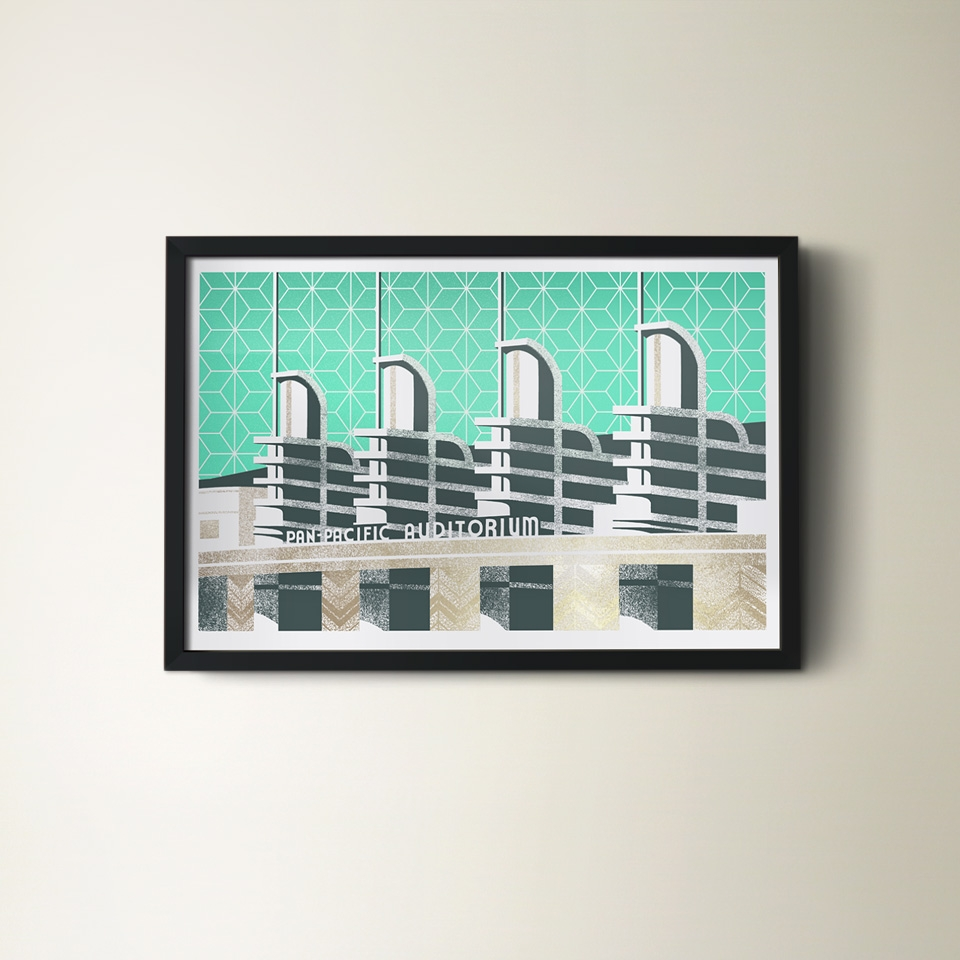 The Pan-Pacific Auditorium from The Municipal Prints Company