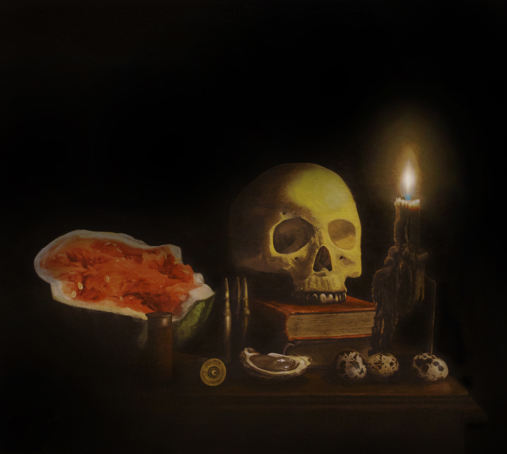Memento Mori,  2012 Oil on canvas 10 x 12 inches