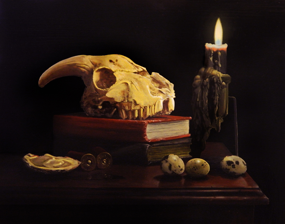 Memento Mori,  2012 Oil on panel 11 x 14 inches
