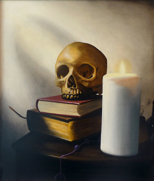 Memento Mori,  2008/2010 Oil on canvas 20 x 24 inches