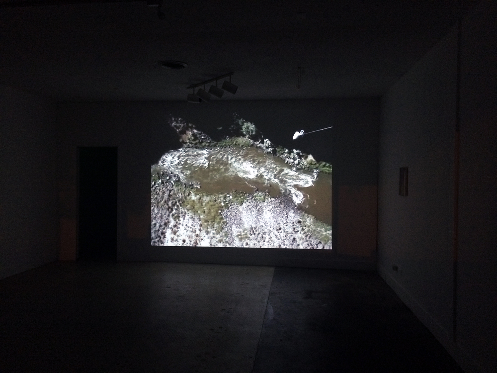 600 Feet (Rio Grande Gorge Bridge) , 2013 Video, 27 minute loop Installation view