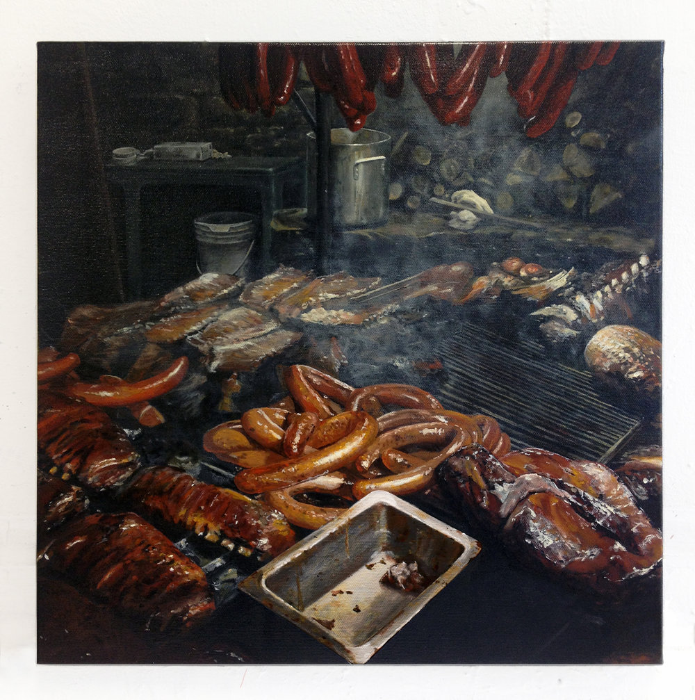 Salt Lick,  2013   Oil on canvas   16 x 16 inches