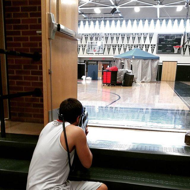 #stairsniper #easypickings #morita #lasertagintheschool
