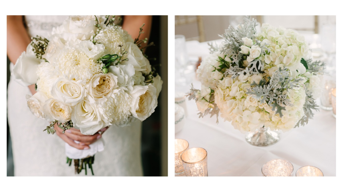 Karrie hlista designs classic white garden bridal bouquet white ohara david austin cabbage roses white lisianthus large mightylinksfo