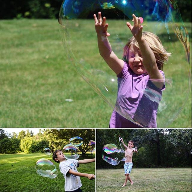 The faces kids make when having fun with #faroutbubbles! #bubbleface Bottom two photos by @jesscroninphoto 📷