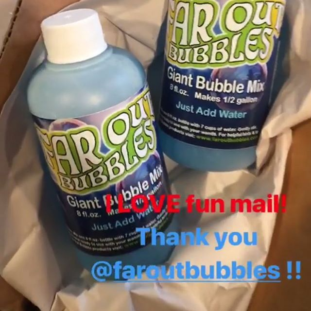 And we love fan mail! Thanks @jesscroninphoto for sharing a pic of your bubble mix refills! We hope you have SO much fun with your boys making giant bubbles! #faroutbubbles