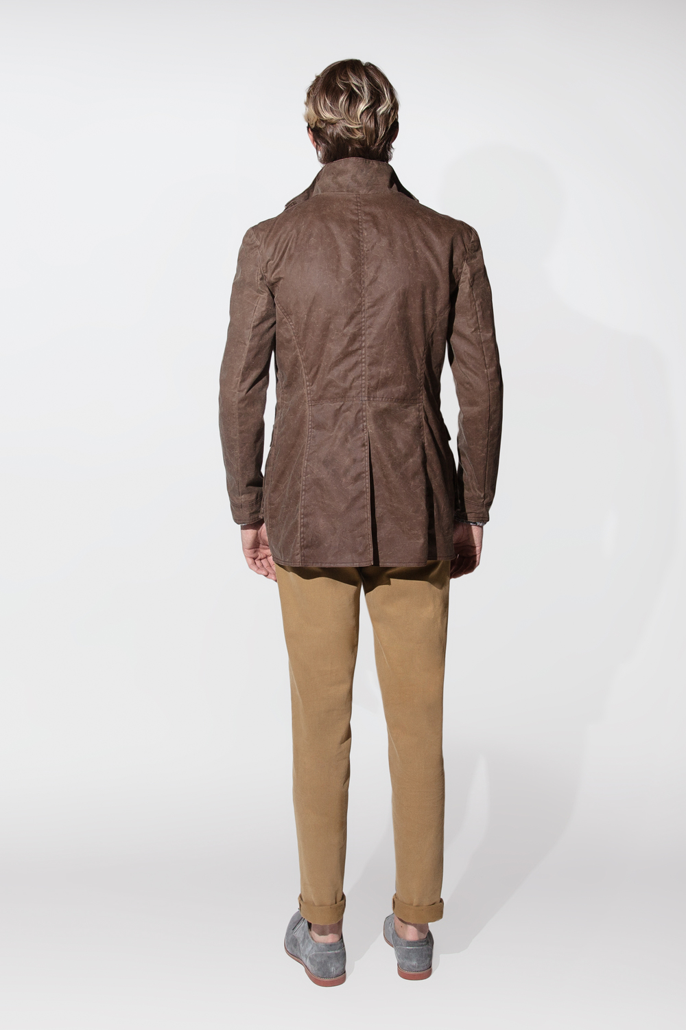 waxed cotton jacket $795