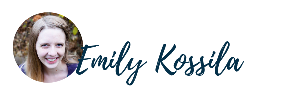 White-woman-smiling-Emily-Kossila-Signature
