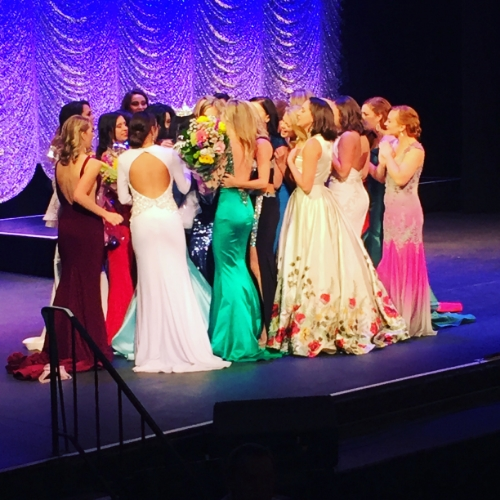 Class of 2016 congratulating the new Miss New York 2016, Camille Sims