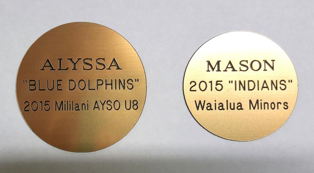Medal Engraving Plate Sample