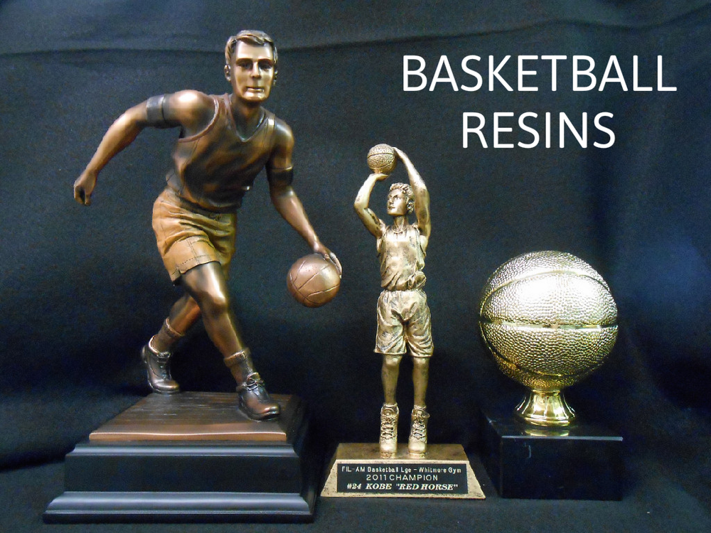 BASKET BALL RESIN 1 - 112.00, BASKETBALL RESIN 29.00, SMALL GOLD BASKETBALL - 47.00