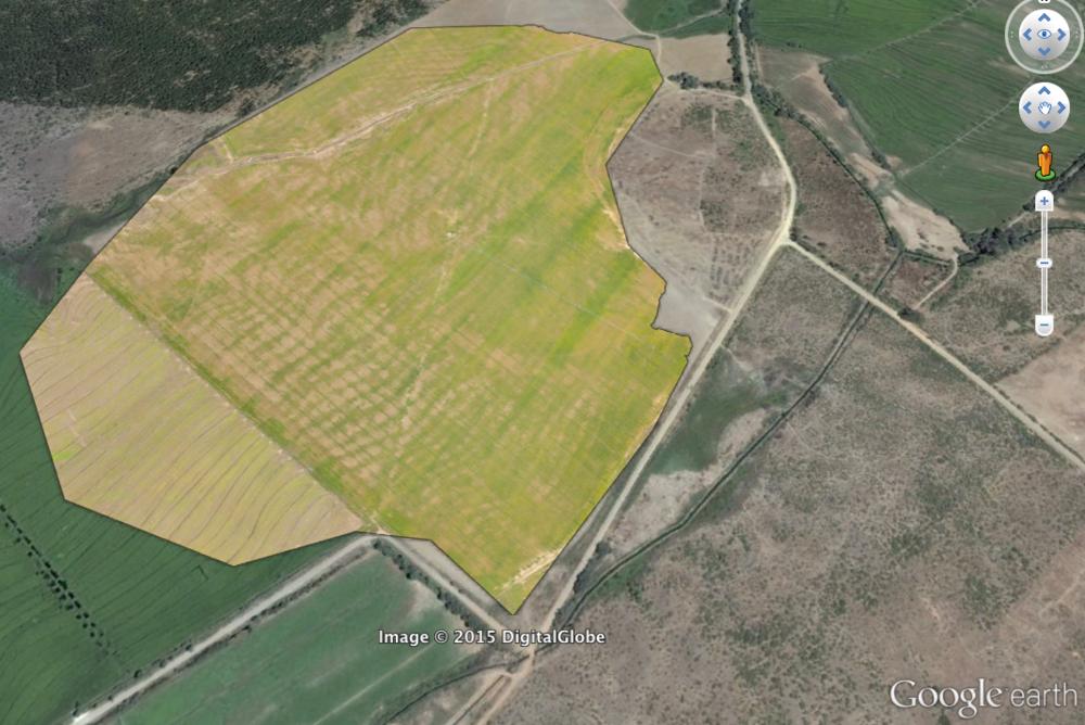 Mapa RGB sobre campo de trigo
