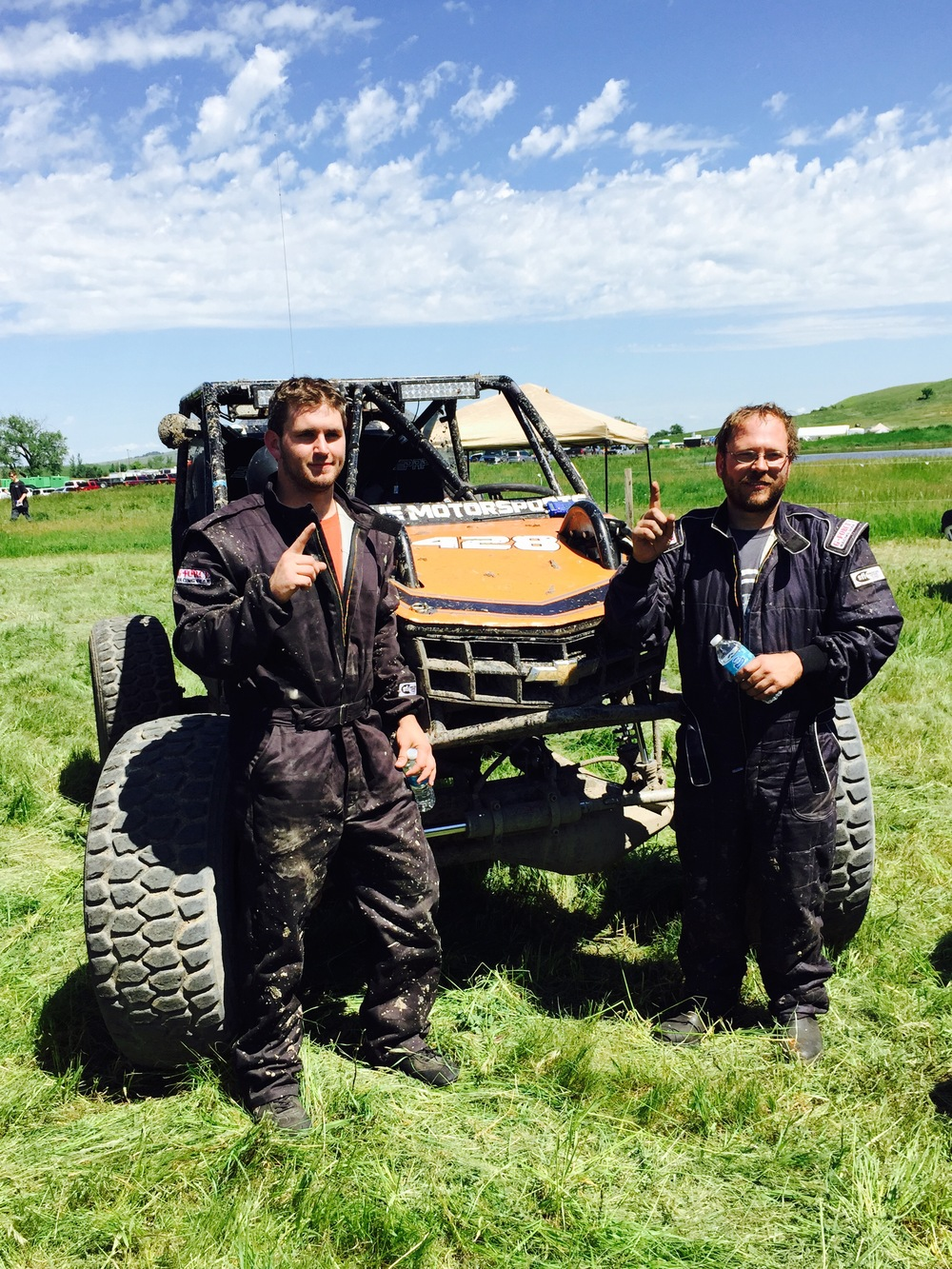 Nick Birdsall and Jeremy Schneider with the High Torque 4x4 car.
