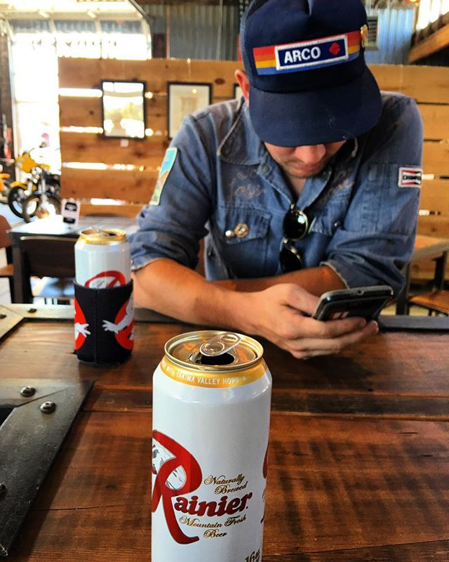 """We're in God's Country, gentlemen."" Getting stoked for @bendsummerfest tonight! #vitaminR @rainier_beer"