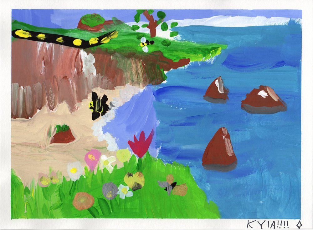 Landscape Painting by Kyla, Tempera Paints