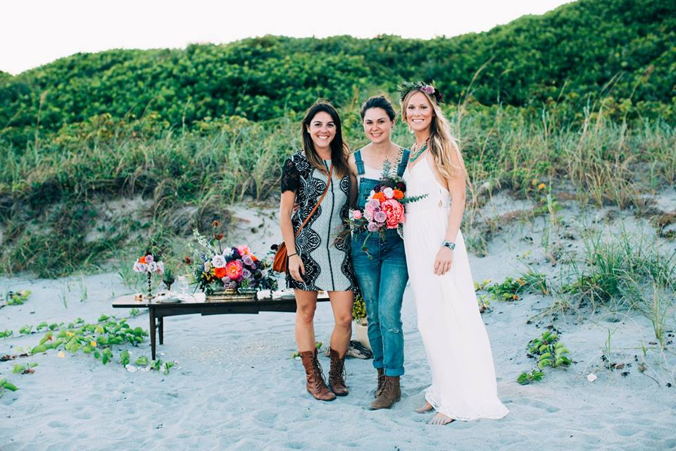 Lauren of Lauren Louise Photography, Jenny of Jenny Does Weddings, Taylor our model