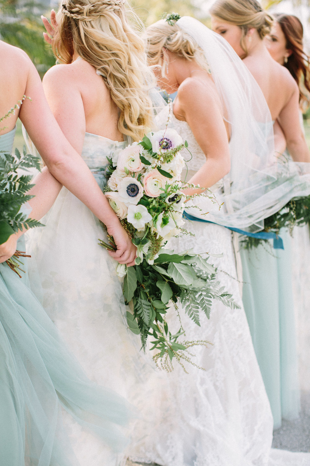 bridesmaids-bouquets-greenery