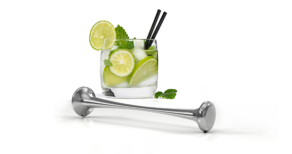 "The ""Miximum"" Drink muddler is solid stainless steel. the polished finish is smooth to the touch and it quality and design make it a joy to hold and muddle your favorite cocktails"