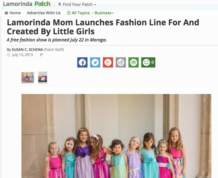 Read full Article on Lamorinda Patch: http://patch.com/california/lamorinda/lamorinda-mom-launches-fashion-line-created-little-girls-0