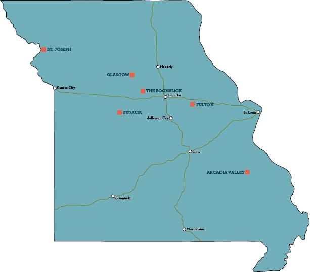 """The six """"destinations"""" added to the second edition of Historic Missouri Roadsides"""