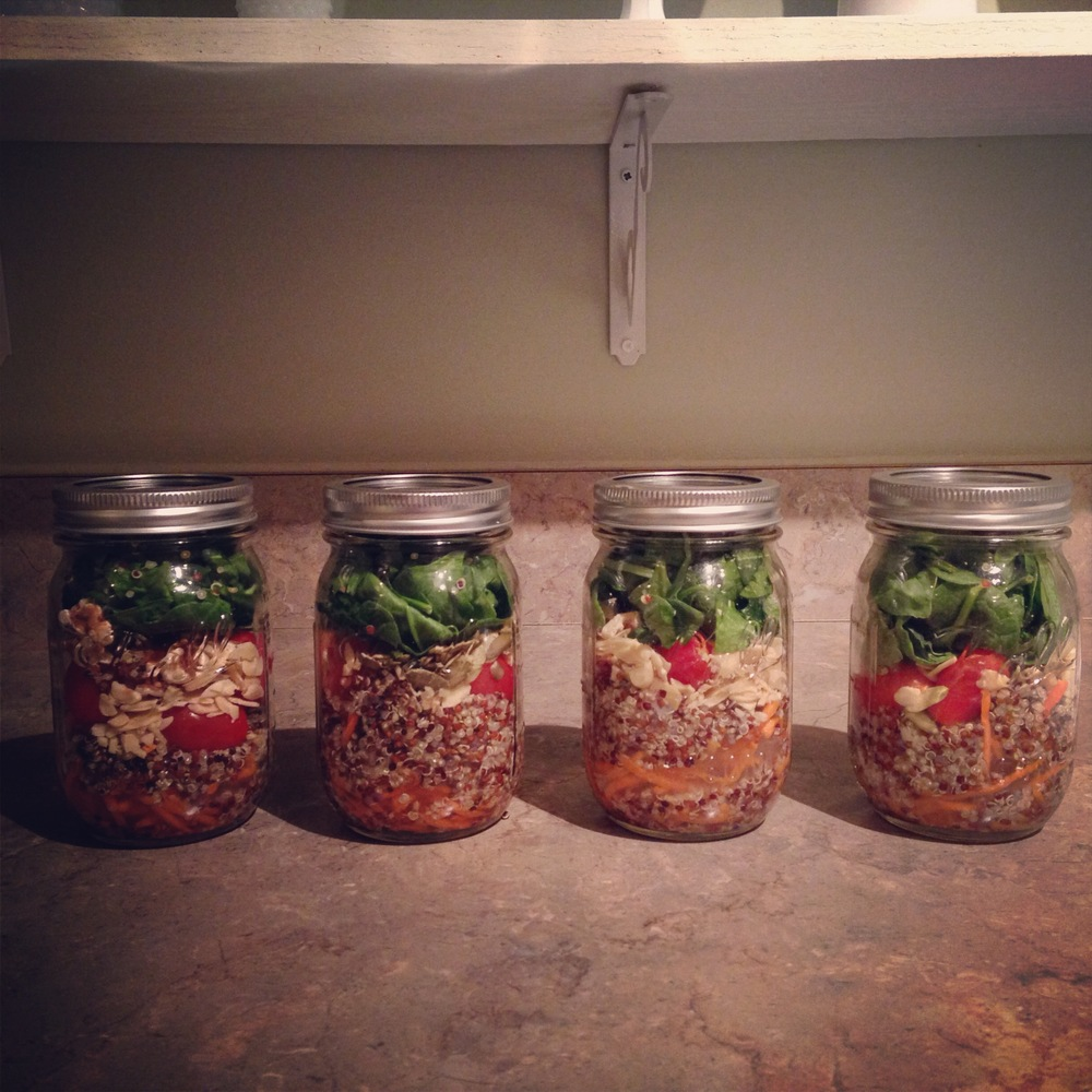 mason jar salads | madeline made