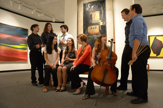 The Mizzou New Music Ensemble is made up of seven graduate students. They perform music composed by faculty and students around the region.