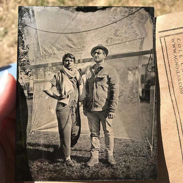 Us in tin type #commongroundcountryfair #maine #tintype