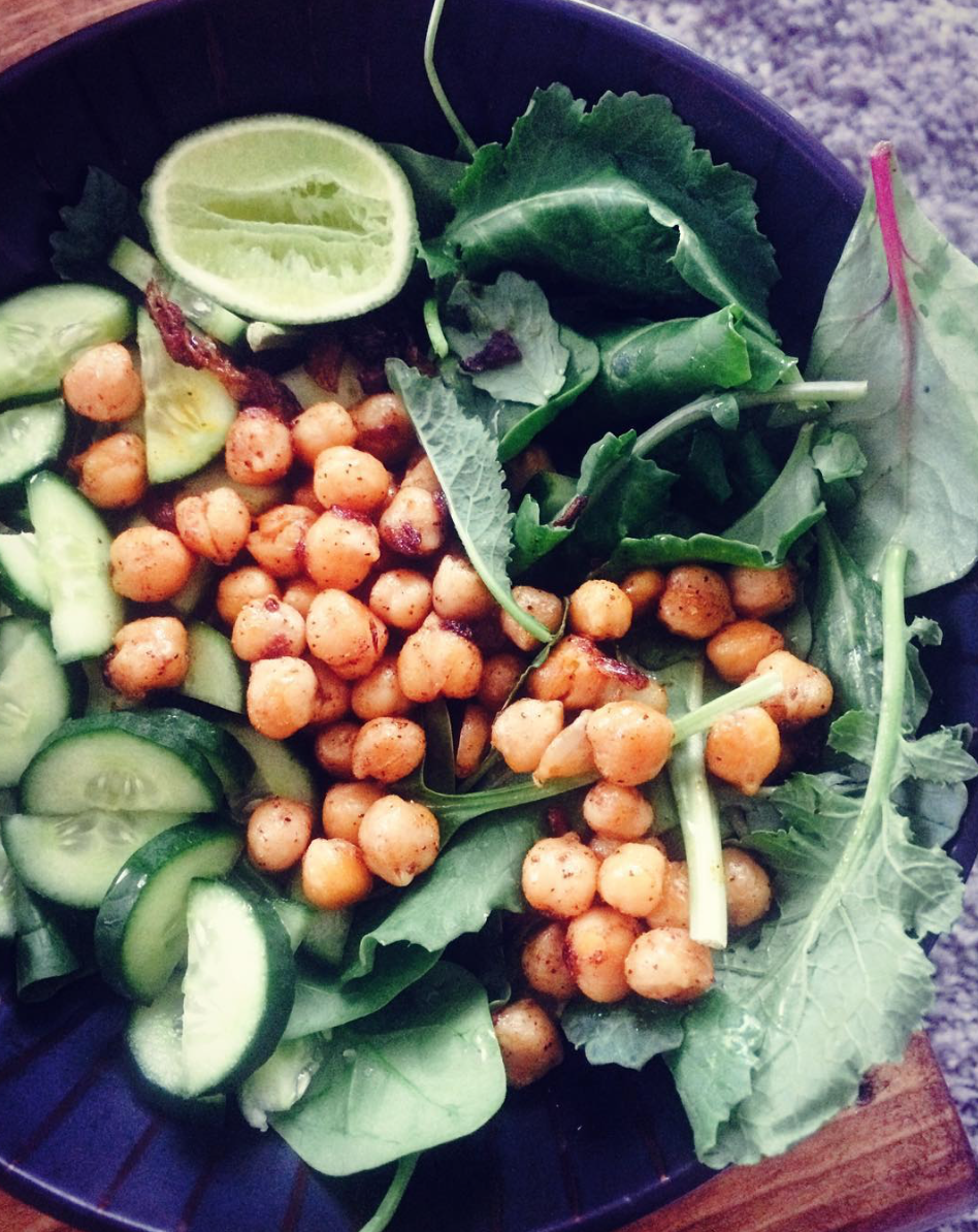 Hidden chickpea salad