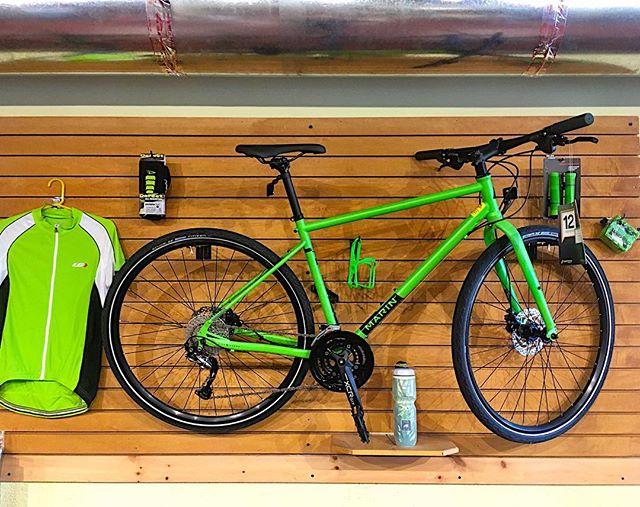 It's spring and things are turning green :) #marinbikes #bikeshop #gastonia #lovegastonia #bicycle