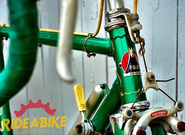 This classic Fuji is in great shape and will be up for sale next week! #madeinjapan #steelisreal #classicbike #vintagebicycle #fujibikes #bikeshop #gastonia #lovegastonia
