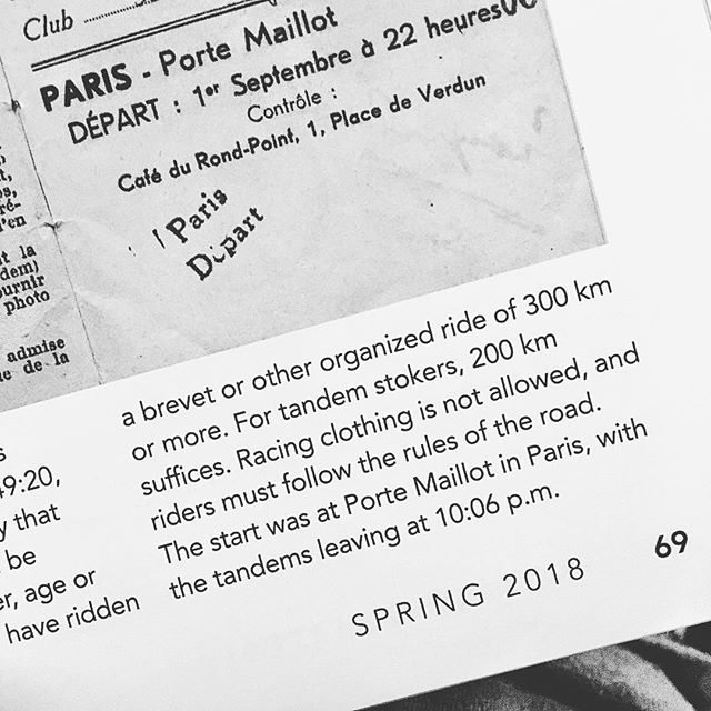Racing clothes is not allowed. #bicyclequarterly #parisroubaix @compasscycle thank you for all the interesting articles!