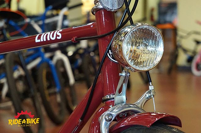 We recently installed these classic lights on a @linusbike Rambler 7... sharp! Thanks for coming to see us @willmacd89 #bikeshop #bikerepair #gaston #downtowngastonia #linusbike #rideabike