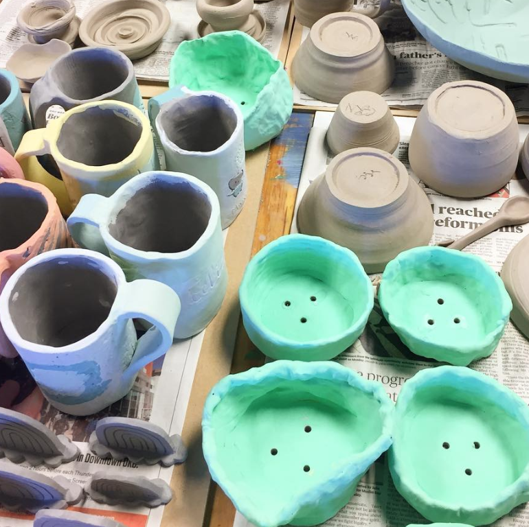 CERAMICS 4-WEEK SESSION   (ages 4-12)  thursdays, october 11, 18, 25, nov 1 3:30- 4:45pm $140