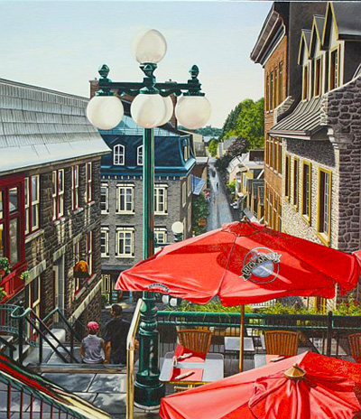 Morning in Old Quebec City