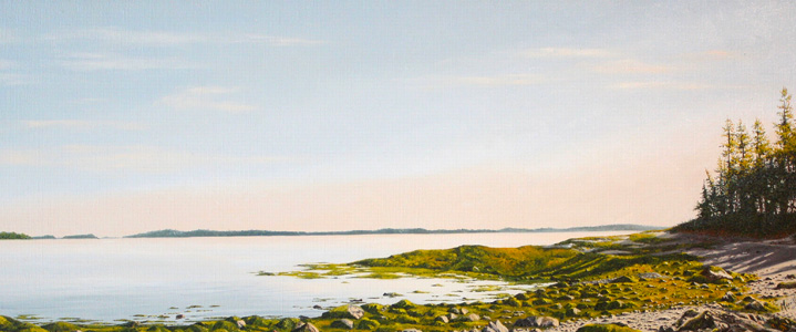 "Islsboro, ME - Oil on linen 12"" x 30"""