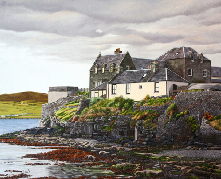 "Shetland Islands - Oil on linen 26"" x 32"""